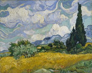 Wheat Field with Cypresses_1889_Van Gogh