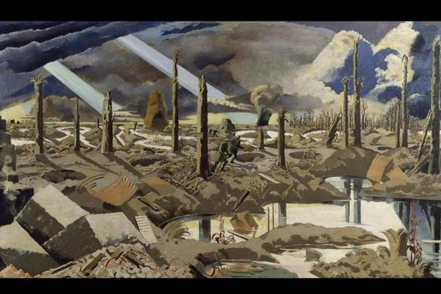 The Menin Road, 1919-Paul Nash