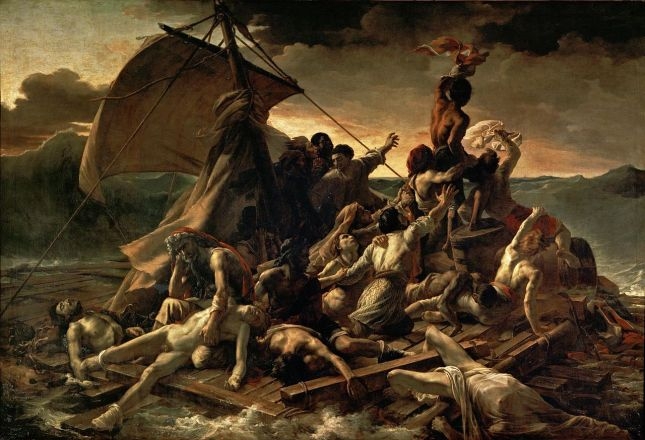 The Raft of the Medusa (1818-19)-Jean Louis Théodore Géricault-(Musée du Louvre)